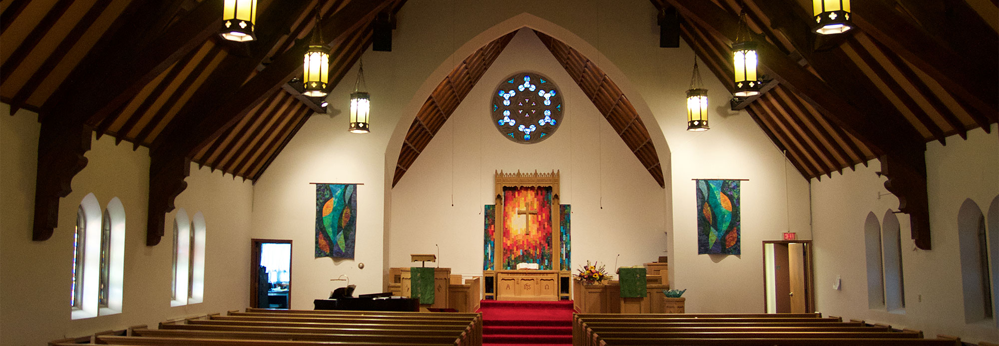 The sanctuary at Edina Morningside Community Church.